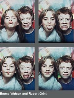 Little Emma Watson & Rupert Grint - Ahhhh!!!! They are so adorable!!! ♥