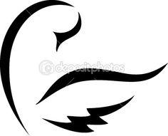 very simple swan sketch