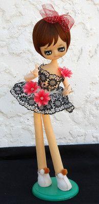 Vintage Japan pose doll