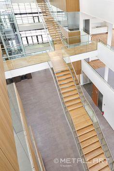 Treppenkonstruktion für Ganzglasgeländer   MetallArt Metallbau Schmid GmbH