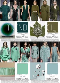 F/W 2017-18 women's fashion colors trends