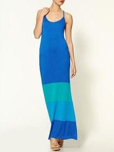 $79 ShopStyle: Loveappella Colorblock Tonal Maxi Dress