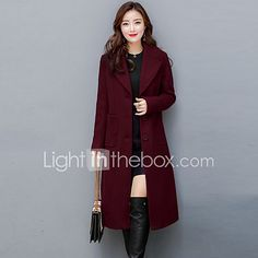 6bd84a412f4 Women s Plus Size Going out Street chic Sophisticated Fall Winter Coat