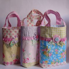 Pretty girlie totes by Roxy Creations, via Flickr