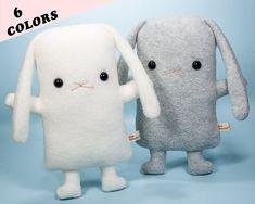 stuffed bunny plush  cute lop ear rabbit stuffed by FlatBonnie