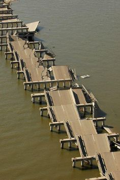 Highway I-90 after Hurricane Katrina.