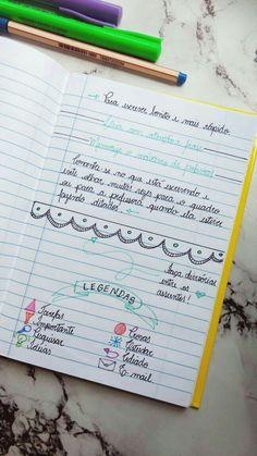 Notebook Organization, School Organization, Diy Notebook, Organizer Planner, Note Taking, Study Tips, Studyblr, Vestibular, Book Journal