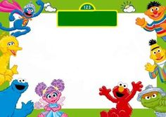 sesame street happy birthday poster - Google Search