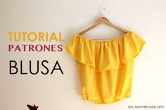 DIY Tutorial: Blusa sin hombros (patrones gratis), My Crafts and DIY Projects (Diy Ropa Blusas) Diy Couture, Couture Tops, Diy Clothing, Sewing Clothes, Sewing Hacks, Sewing Tutorials, Dress Patterns, Sewing Patterns, Diy Food Gifts