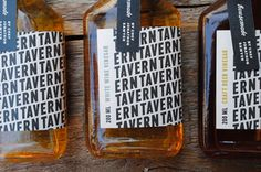Gunnar Cook Photography / pattern, packaging, typography // cwisnieski_tavernvinegar_01 — Designspiration