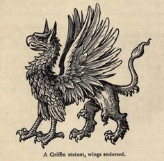 A Griffin Statant, Wings Endorsed