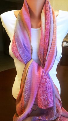 Women scarfpurple scarfinfinity scarfchiffon  purple by feltyhome