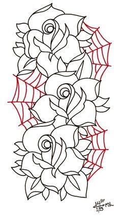 The days of wine and roses by Fspunx on DeviantArt Tattoo Outline Drawing, Rose Drawing Tattoo, Doodle Tattoo, 1 Tattoo, Body Art Tattoos, Tattoo Design Drawings, Tattoo Sketches, Tattoo Designs, Drawing Stencils
