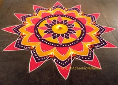 Rangoli Design Ideas & Images For Diwali & Happy New Year Rangoli Designs Peacock, Indian Rangoli Designs, Rangoli Designs Latest, Rangoli Patterns, Colorful Rangoli Designs, Rangoli Designs Images, Beautiful Rangoli Designs, Easy Rangoli Designs Videos, Easy Rangoli Designs Diwali