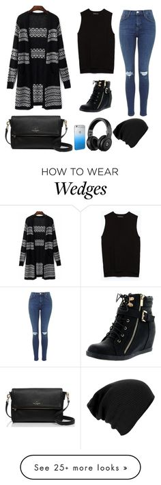 """""""Leaving for Cali in 24 hours!!!!"""" by we-are-all-beautiful-at-heart on Polyvore featuring Zara, Top Moda, Kate Spade, ardenisonfleek, Ardenmakesfashionwork and Ardendoesthings"""