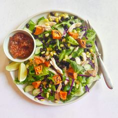 Southwest chicken salad with roasted sweet potato, corn, and beans | Recipes | WW USA