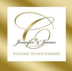 $15 for 20 #Monogram #GoldLabel for #Wedding #Welcomebag #HospitalityBag #WeddingFavor or #GoodyBag by http://www.bestwelcomebags.com
