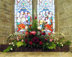 St Giles, Ludford, wedding in June 2012 - window opposite the door.