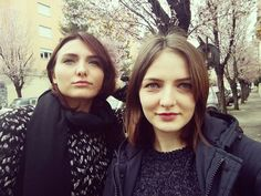 My sister and I  #sisters #blueeyes #villamirafiori #roma #rome #blossoms #trees #alberiinfiore #relax #university #universita #sorelle #primavera #spring #ukrainiangirls #ukrainian