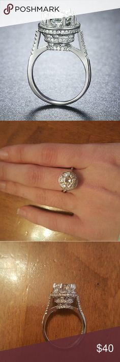 Beautiful Sterling Silver Size 8 Brand new! Stamped 925 Size 8.  Offers welcome! Jewelry Rings