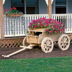 Wagon Planter On Pinterest Red Wagon Old Wagons And