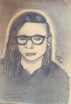 Skrillex Female, Drawings, Art, Skrillex, Art Background, Kunst, Sketches, Performing Arts, Drawing