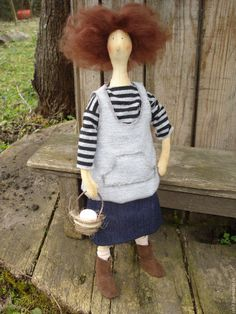Купить Тильда с корзинкой - серый, тильда кукла, тильда, купить Тильду, купить подарок, гнездо