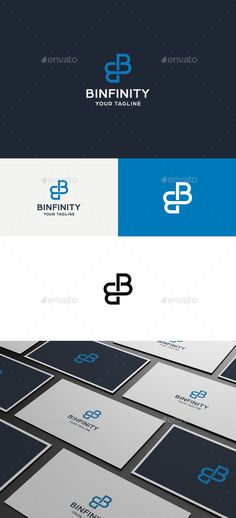 Binfinity B Letter - Logo Design Template Vector #logotype Download it here: http://graphicriver.net/item/binfinity-b-letter-logo/5268573?s_rank=84?ref=nesto