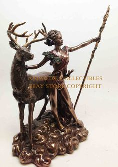 European Collectibles for sale Artemis Goddess, Diana, Deer, Roman, Lion Sculpture, Statue, Projects, Wedding, Log Projects