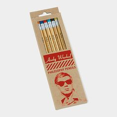"""$9 Andy Warhol Philosophy Pencils 