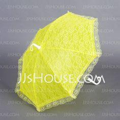 Ombrelle de mariage - $9.99 - Lumineux Tergal Dentelle Parapluie avec Broderie (124037473) http://jjshouse.com/fr/Lumineux-Tergal-Dentelle-Parapluie-Avec-Broderie-124037473-g37473