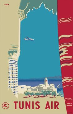 1930. Tunisia, North Africa - Tunis Air Poster