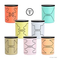 Pretty scented candles from perfumer Oliver & Co. in containers with designs inspired by the angular and dynamic lines of spaceships. Each candle is color coded to represent a sensation based on each scent. The result is an innovative contrast between the botanical essences and a futuristic inspired graphic design.