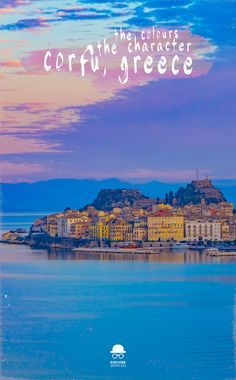 A travel photo series of Corfu Greece and the beautiful Old Town architecture bursting with color and character. #sunset #beautifulplaces