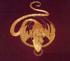 Work of Olga Mironova for Royal School of Embroidery Intencive Goldwork Certificate Cource. August 2015. Hampton Court