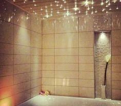 Master bathroom- Built in stary lights above bathtub