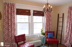 Interesting DIY idea for hanging curtains! Love this blog too, Inspired by Charm.