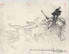Mark Schultz Conan Prelim Comic Art