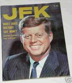 JFK on a cover of a magazine.