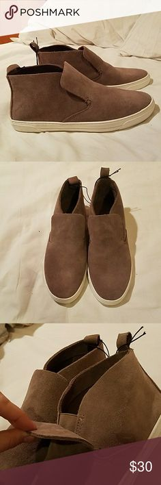Dolce Vita women's tan shoes *never worn* Women's slip-on tan Dolce Vita high top shoes. Never been worn. Does not have tags. Dolce Vita Shoes Sneakers