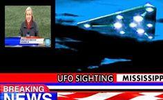É CHEGADA A HORA DO CONTATO: Avistamento em MASSA de UFOs no Mississipi Abril de 2015
