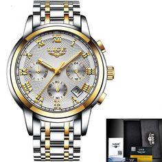 f489cd5d7f5 Nova LIGE Relógios Homens Marca De Luxo Cronógrafo Homens Esportes Relógios  À Prova D  Água