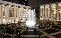 The Revson Fountain is considered one of the most iconic destinations at Lincoln Center. Before going to a performance, catch the 'pre‐show' by the team responsible for water spectaculars at the Bellagio in Las Vegas. Photo by Iwan Baan.