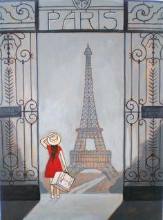Corey Egbert Illustration: Paris Painting for his sister.