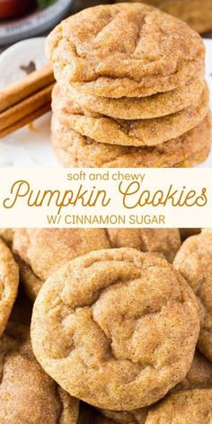 Pumpkin Spice Cookies Keks Dessert, Dessert Food, Cookies Et Biscuits, Cookies Soft, Vanilla Cookies, Fall Cookies, Brownie Cookies, Biscuits Brownies, Cinnamon Sugar Cookies