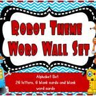 A set of robot theme job chart cards. There are 16 job cards and 16 blank job cards. The jobs included are: line leader caboose gardener p. Robot Classroom, Ela Classroom, Classroom Themes, Robot Theme, Job Chart, Theme Words, 26 Letters, Teacher Pay Teachers, Robots