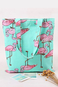 ***Buy now limited stock*** Whether you're off to the shops or headed for the beach, our Pink Flamingo tote bag is perfect for just about any purpose. Made from heavy duty canvas.