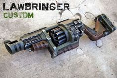NERF-LAWBRINGER-New-Custom-Painted-OD-for-Display-LARP-or-Cosplay