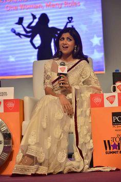 Shilpa Shetty at the India Today Women Summit 2014. #Bollywood #Fashion #Style #Beauty