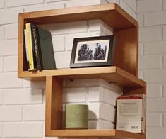 What is truly inspiring about the Franklin Wall Shelf is its 90 degree corner design.